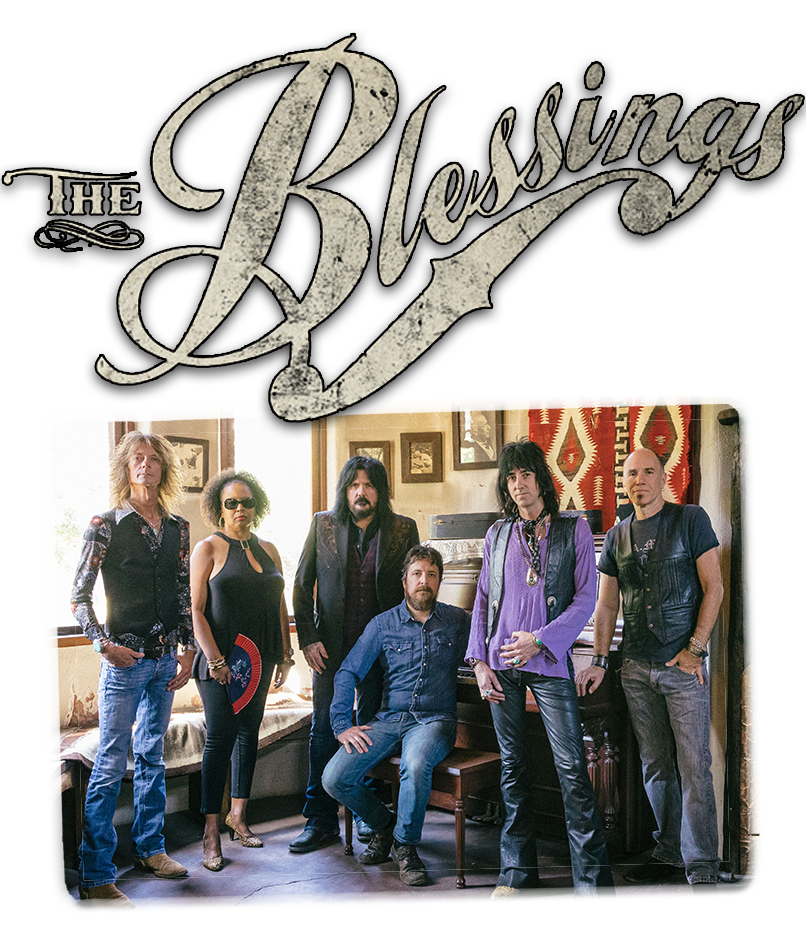 The Blessings are: Jeremy White: Lead Vocals, Guitar, Harmonica, Mike Gavigan: Guitar, Frank Scimeca: Bass, Jason Upright: Drums, Jeffrey Howell: Keys and Organ, Lavone Seetal: Backing Vocals, Percussion